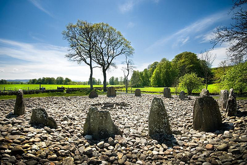 The Southern Stone circle at Temple Wood, Kilmartin. From www.flickriver.com