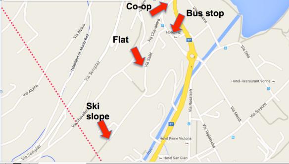 Map of St Moritz Via Salet 10