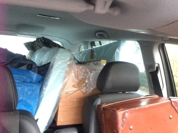 car packed to the gunnels