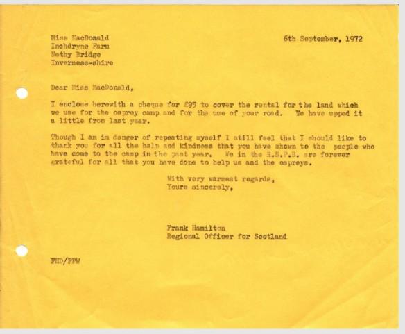 Miss Macdonald letter